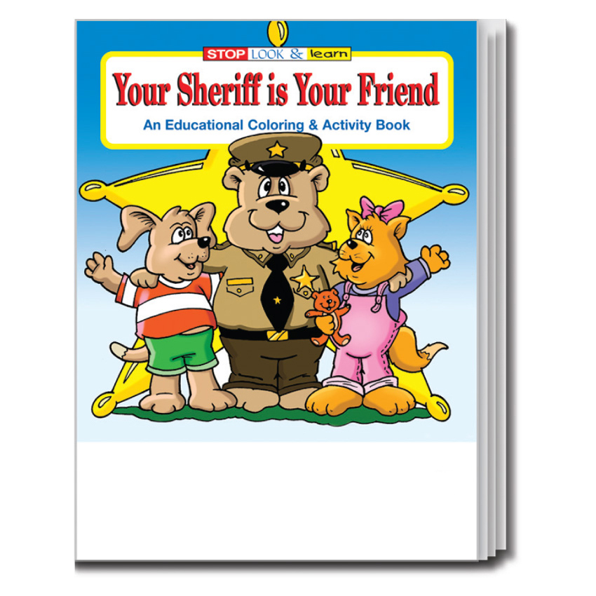 """Your Sheriff is Your Friend"" Coloring & Activity Books (Stock)"