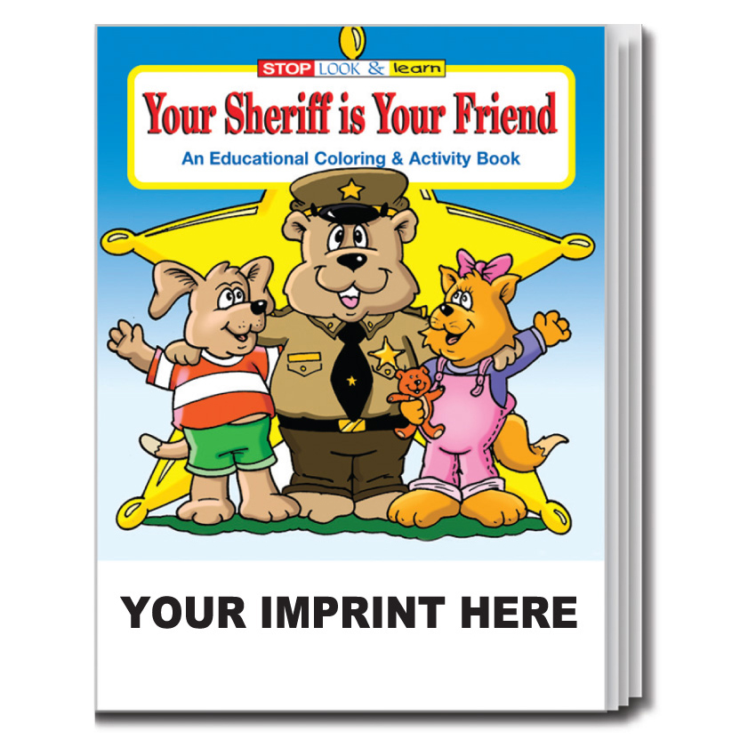 """Your Sheriff is Your Friend"" Coloring & Activity Books (Custom)"