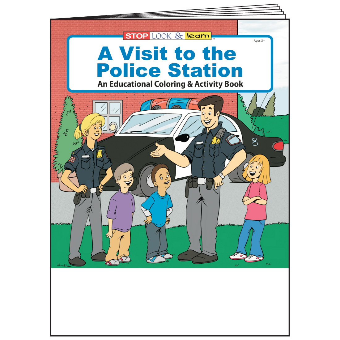 """A Visit to the Police Station"" Coloring & Activity Books (Stock)"