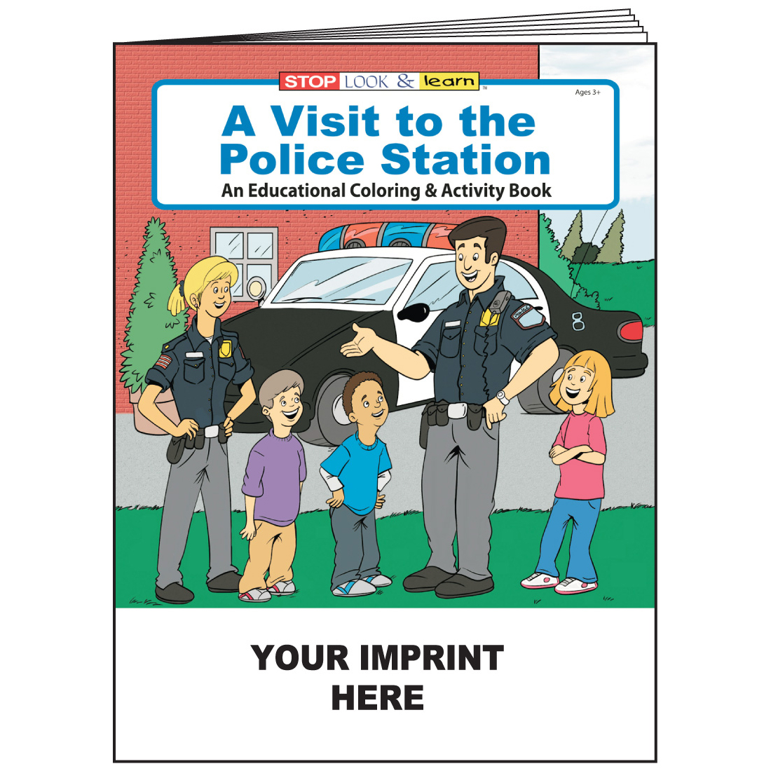 """A Visit to the Police Station"" Coloring & Activity Books (Custom)"