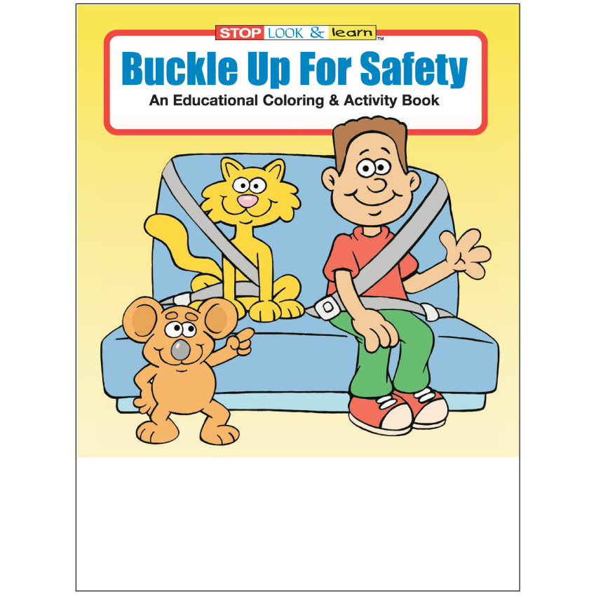 """Buckle Up For Safety"" Coloring & Activity Books (Stock)"