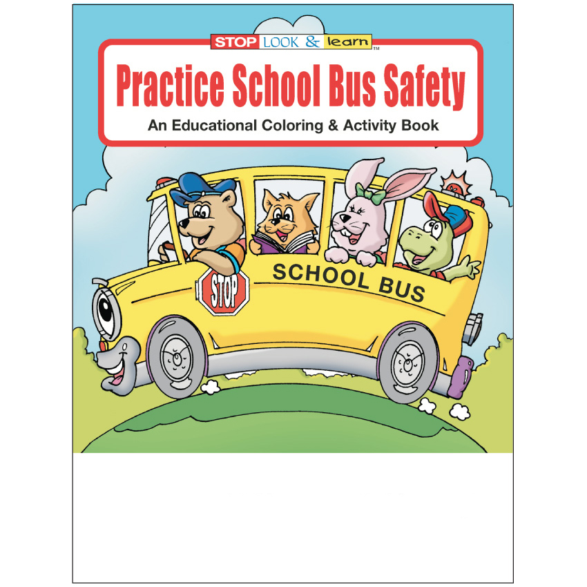 """Practice School Bus Safety"" Coloring & Activity Books (Stock)"