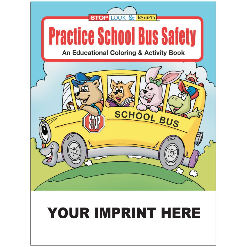 """Practice School Bus Safety"" Coloring & Activity Books (Custom)"