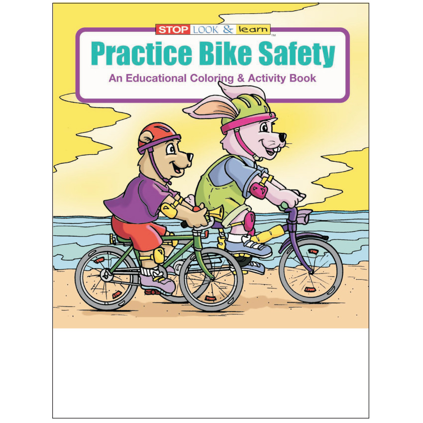 """Practice Bike Safety"" Coloring & Activity Books (Stock)"