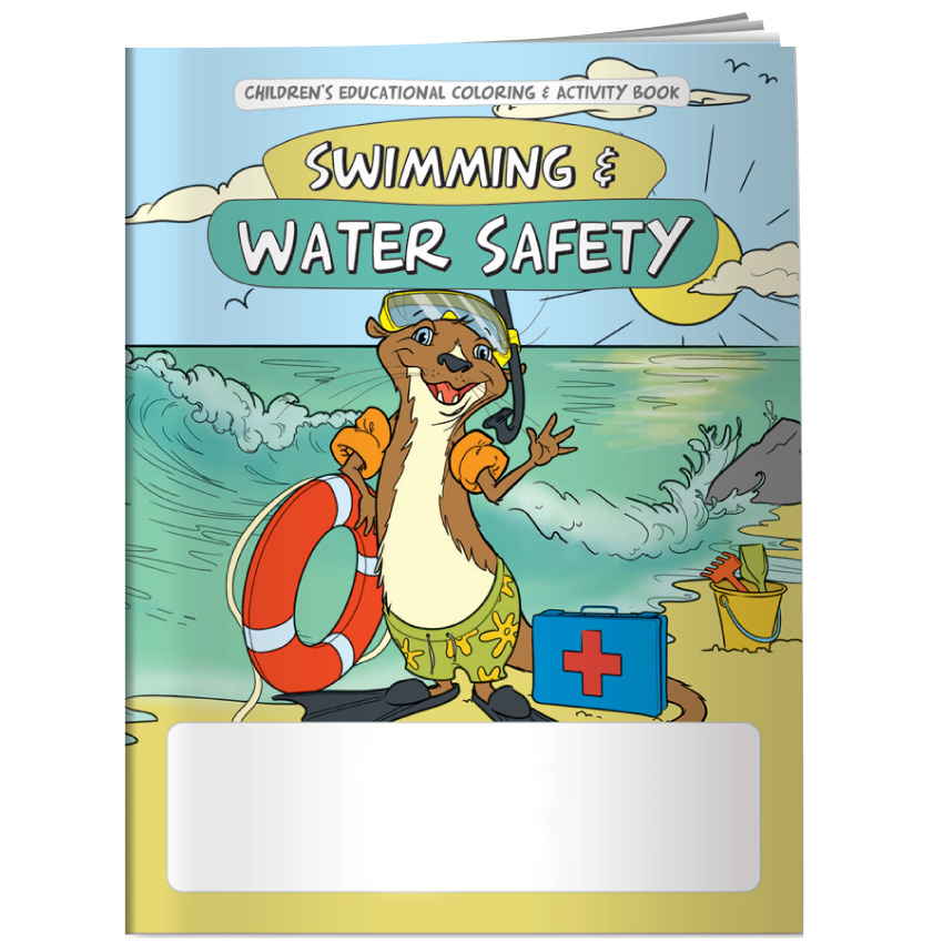 """Swimming & Water Safety"" Coloring & Activity Books (Stock)"