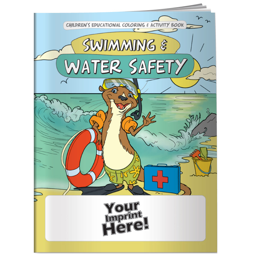 """Swimming & Water Safety"" Coloring & Activity Books (Custom)"
