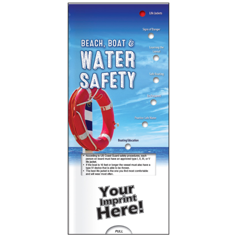 "Pocket Slide Guide ""Beach, Boat & Water Safety"" (Custom)"