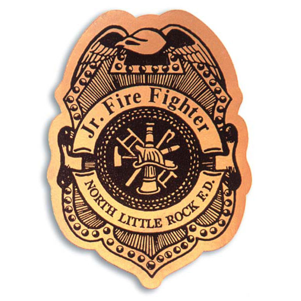 how to draw firefighter badge colo