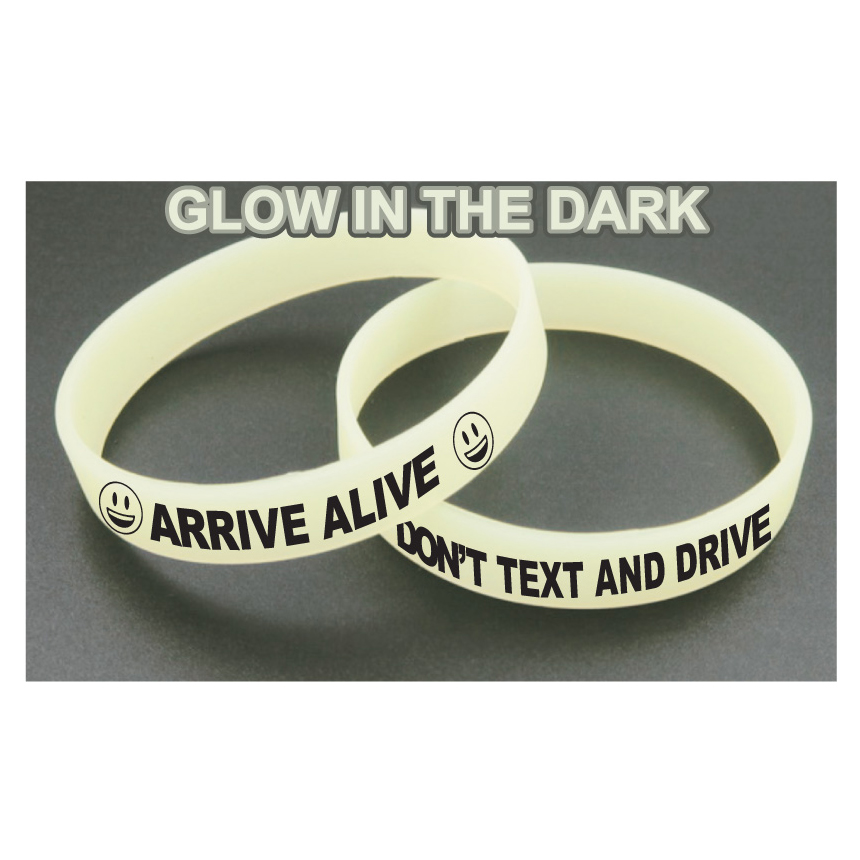 Awareness Bracelets - Glow In The Dark Yellow (Stock)