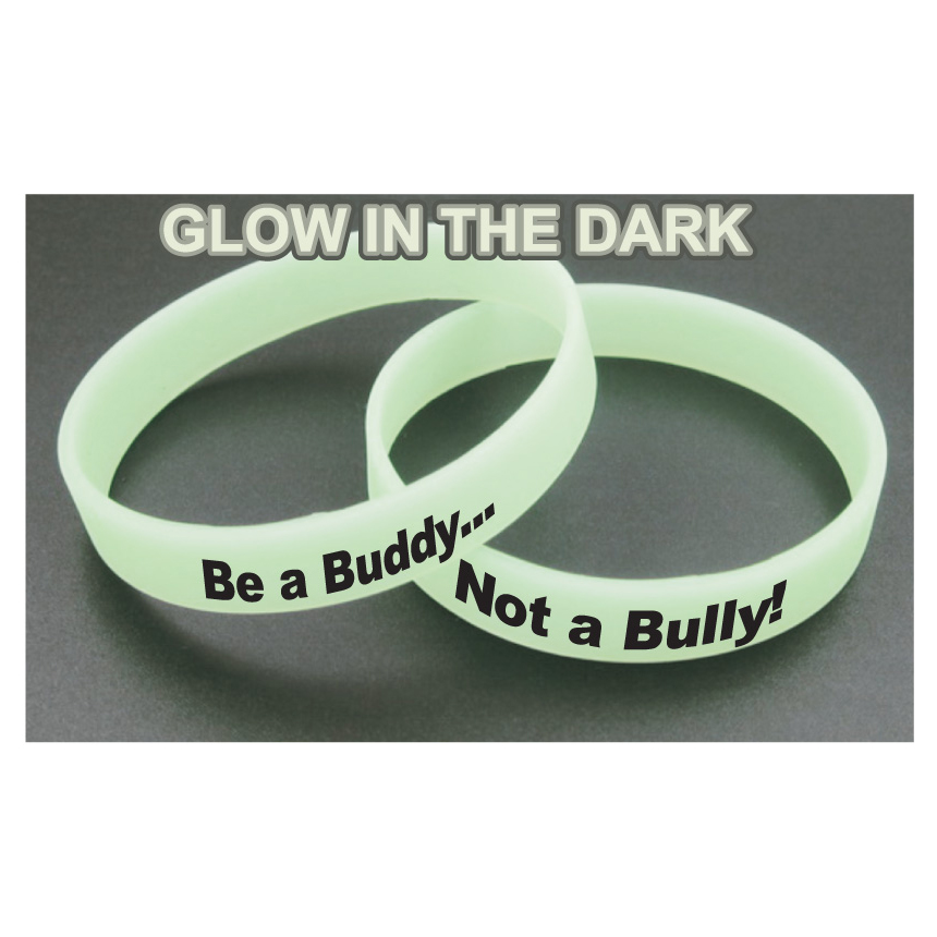 Awareness Bracelets - Glow In The Dark Green (Custom)