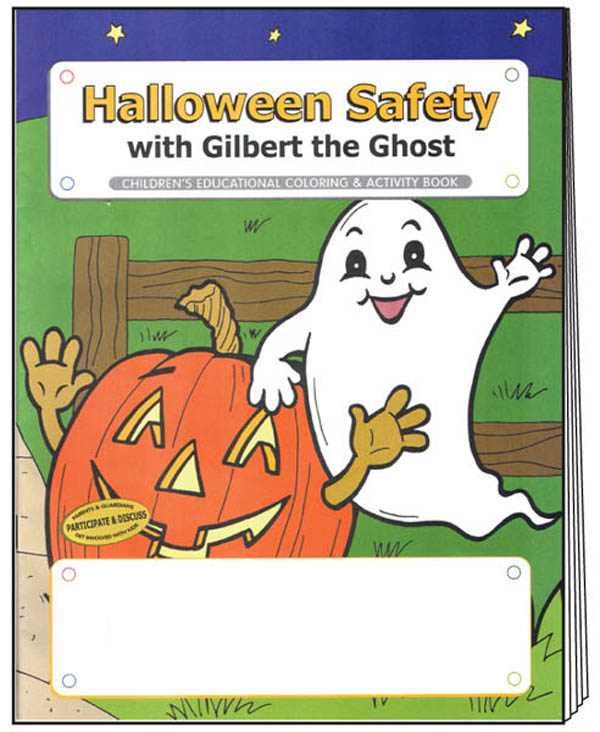 Halloween Safety Coloring Books Stock