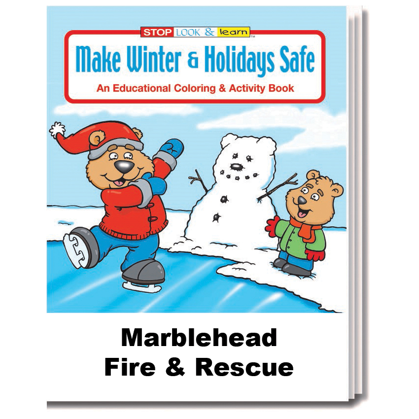 """Make Winter & Holidays Safe"" Coloring & Activity Books (Custom)"