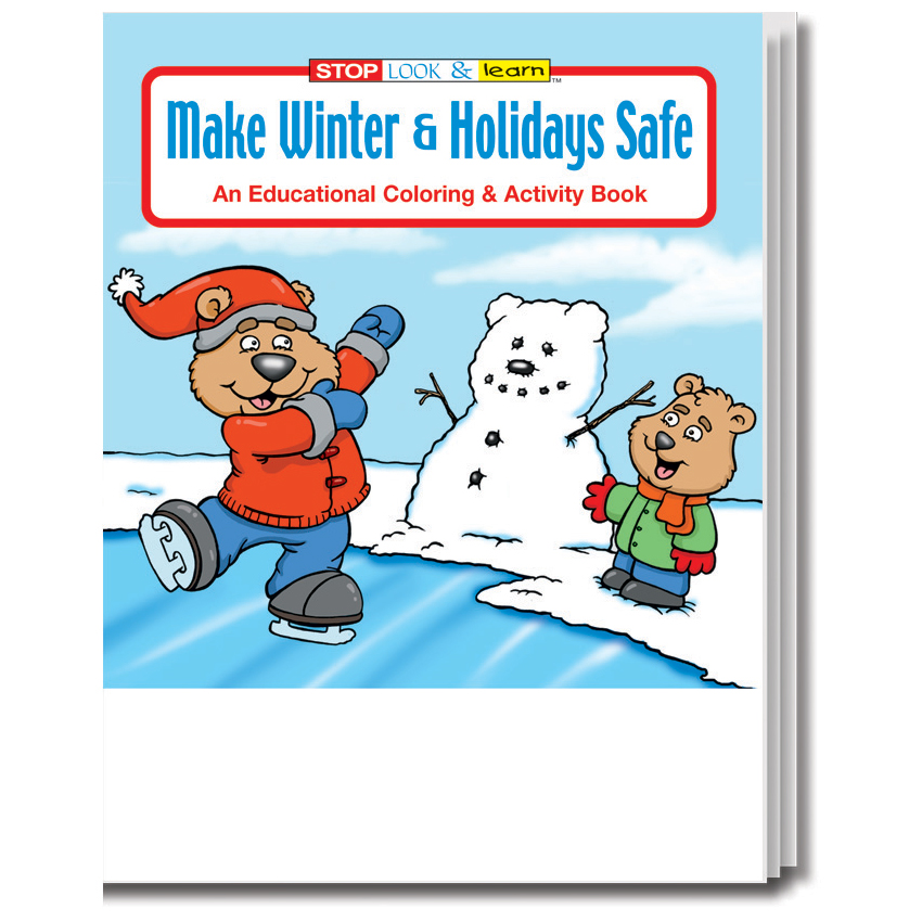"""Make Winter & Holidays Safe"" Coloring & Activity Books (Stock)"