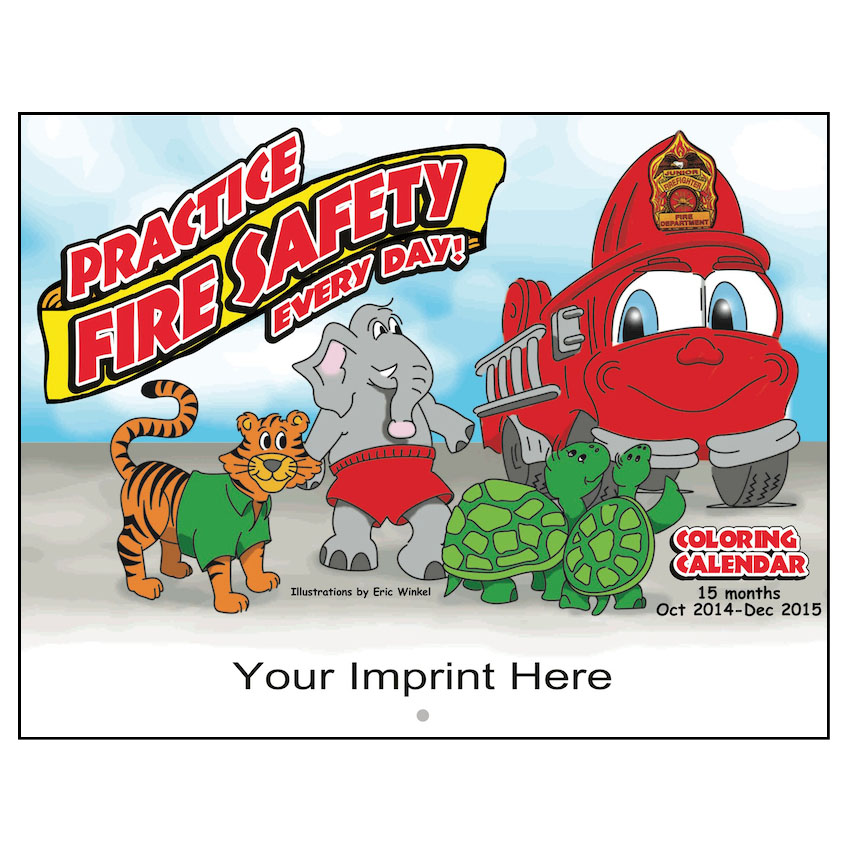Fire Safety Coloring Calendars (Custom)