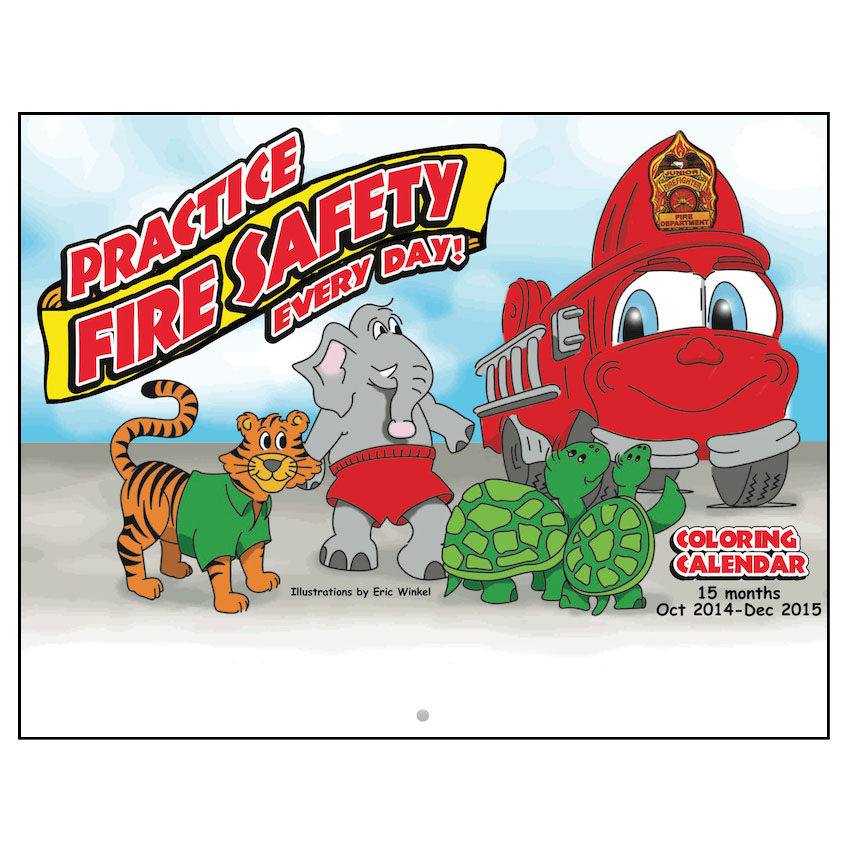 Fire Safety Coloring Calendars (Stock)