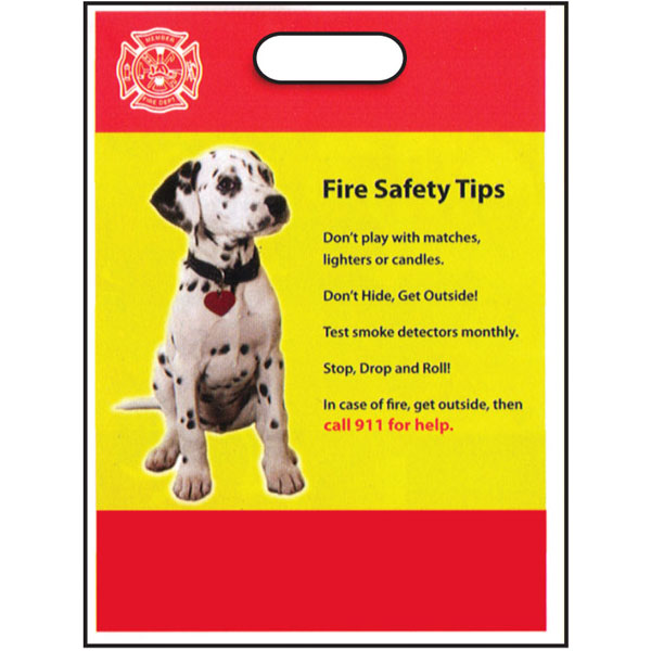 Fire safety tips 11 x15 take home bags stock stock for House fire safety tips
