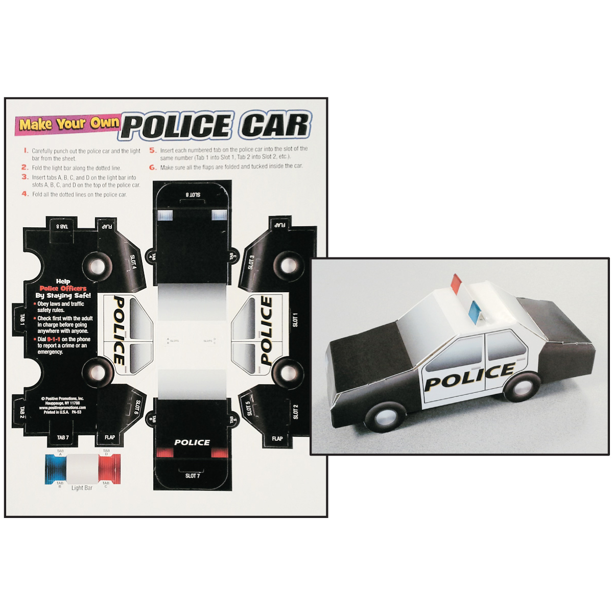 Foldable Police Cars (Stock)