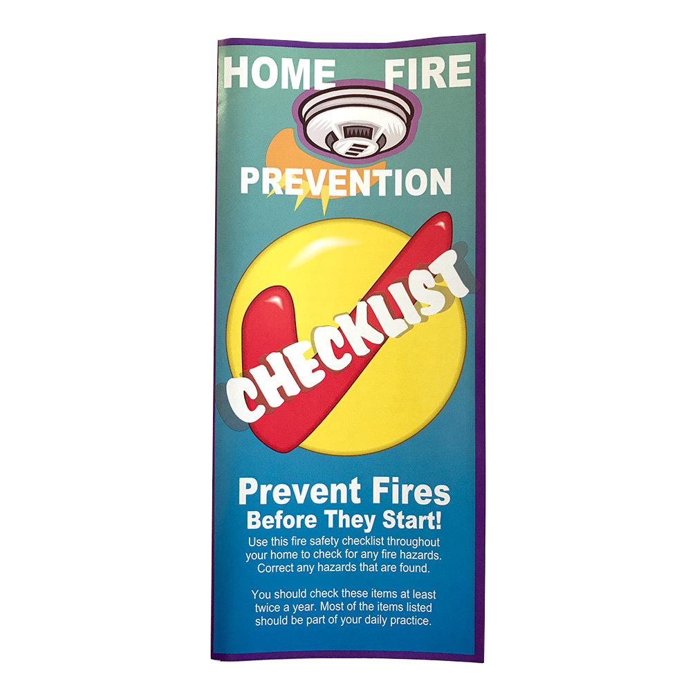 Home Fire Prevention Checklist Brochures (Stock)