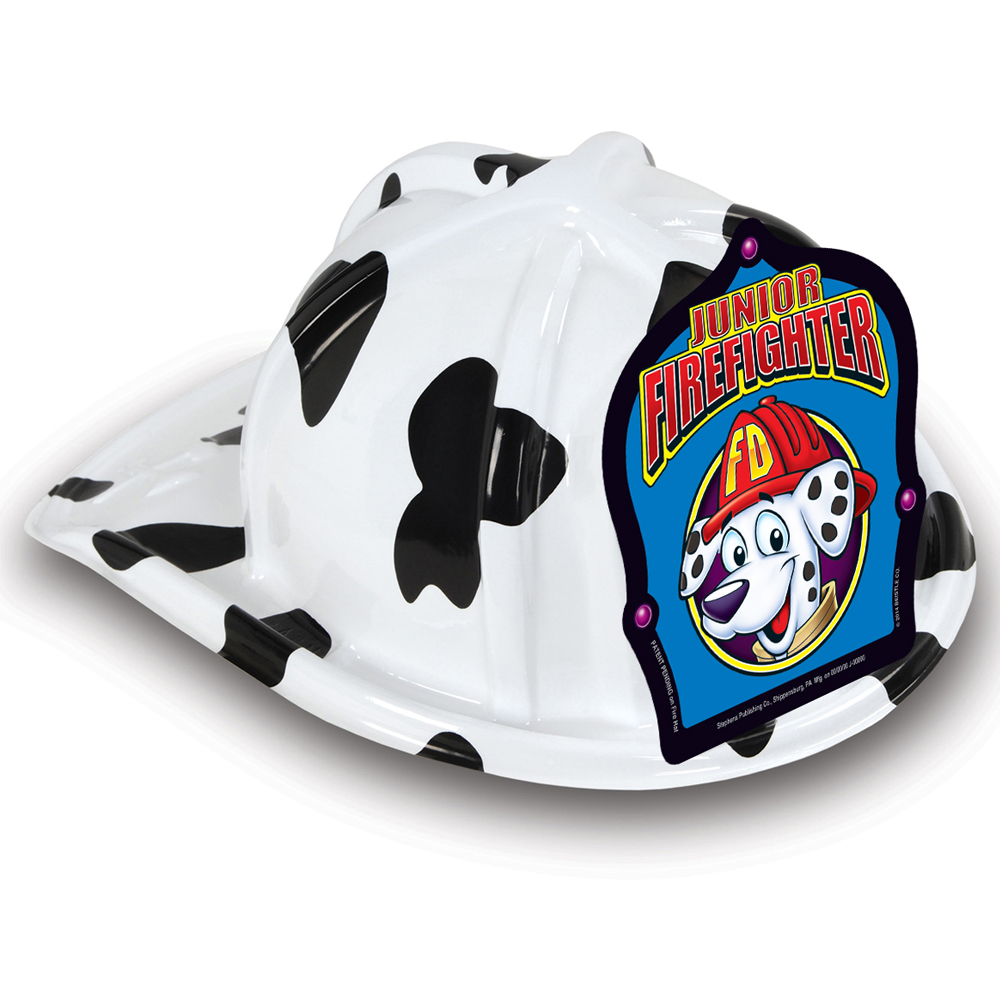 DELUXE Fun Fire Hats - Dalmatian Jr. Firefighter (Stock)