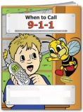"""When to Call 9-1-1"" Coloring & Activity Books (Stock)"