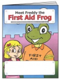 """Meet Freddy the First Aid Frog"" Coloring & Activity Book (Stock)"