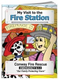 """My Visit to the Fire Station"" Coloring & Activity Books (Custom)"