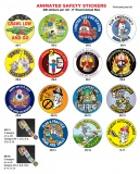 "2"" Animated Safety Stickers (Stock)"