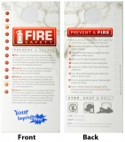 """Fire Safety"" Waterproof Door Knob Hangers (Custom)"