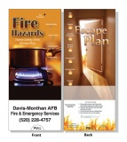 "Pocket Slide Guide ""Fire Hazards & Escape Plan"" Dual Topic (Custom)"