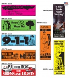 Fire Safety Bookmarks - 7 Designs (Stock)