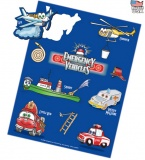 Emergency Vehicles Sticker Sheet (Stock)