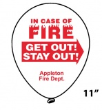 Fire Safety Quality Balloons - 11""