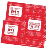 Smoke Detector Calendar Reminder Stickers (Custom)