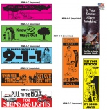 Fire Safety Bookmarks - 7 Designs (Custom)