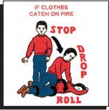 Stop-Drop-Roll Tattoo (Stock)