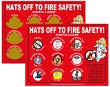 "Scratch Offs ""Hats Off To Fire Safety"" (Custom)"