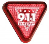 Flashing Safety Lights Triangular Red (Stock)
