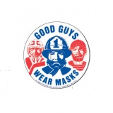 "3'' Stickers ""Good Guys Wear Masks"" (Stock)"