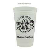 Glow In The Dark 16 oz Smooth-Sided Stadium Cups (Custom)