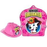 DELUXE Fire Hats - Pink Dalmation Design (Stock)
