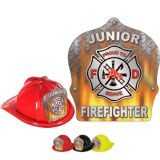 DELUXE Fire Hats - Flame Design (Stock)