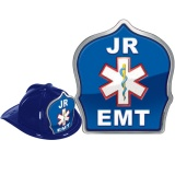DELUXE Fire Hats - Jr. EMT Design (Stock)