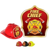DELUXE Fire Hats - Fire Chief Design (Stock)