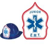 CLASSIC Fire Hats - BLUE - Junior EMT Design (Stock)