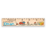 "6"" Color Me Wood Rulers (Stock)"