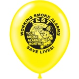 "9"" Balloons - Fire Safety Theme (Stock)"
