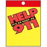 """Help It's As Easy As 911"" Litter Bags (Stock)"