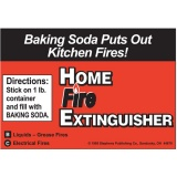 Home Fire Extinguisher Labels (Stock)