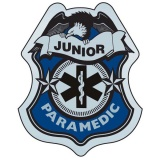 Stick-On Junior Paramedic Badges (Stock)