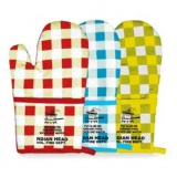 Oven Mitts - Plaid & Solid (Custom)